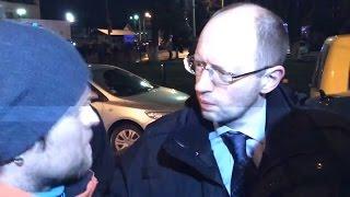 Euromaidan - Activists warn Arseniy Yatsenyuk and Yulia Tymoshenko to keep away from corruption