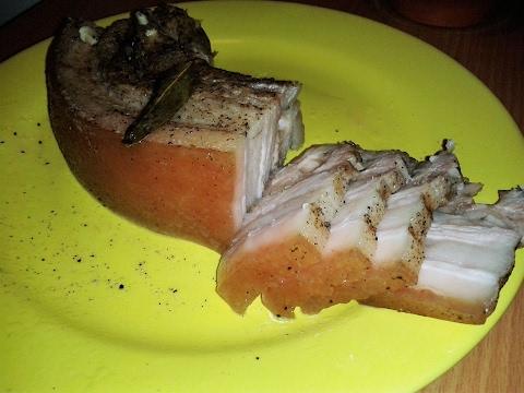 Свиная корейка с пюре из