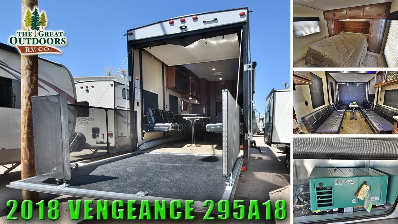 2018 Toy Hauler Fifth Wheel Vengeance 295a18 Extra Large Garage Rv Colorado