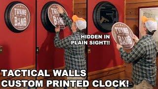 Tactical Walls Custom Clock! Hidden in Plain Sight