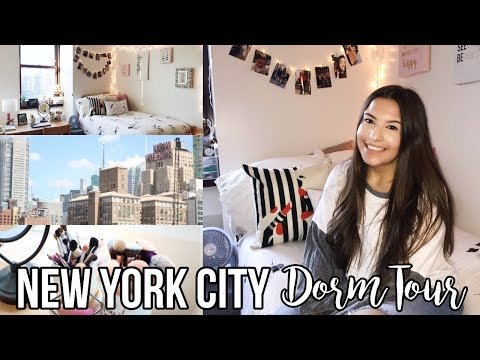 NEW YORK CITY COLLEGE DORM TOUR 2018 | Decoration + Organization Tips | Jackie Ann