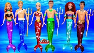 DIY How to Make Sparkle Mermaid Dresses for Princess Dolls