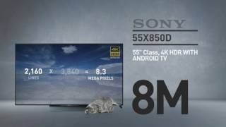 SONY 55X850D 4K HDR with Android TV // Full Specs Review