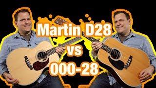 Martin D-28 Dreadnought vs 000-28 Comparison