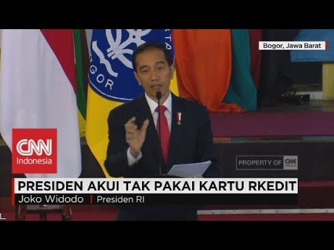 Presiden Joko Widodo Akui Tak Pakai Kartu Kredit