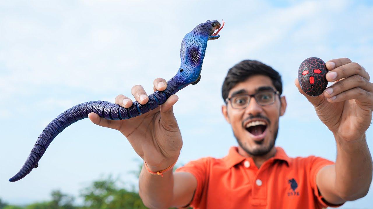 Remote Controlled Snake Unboxing | रिमोट से चलने वाला सांप | Looks Dangerous