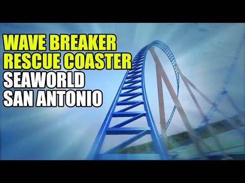 Wave Breaker Jet Ski Rescue Coaster Teaser POV SeaWorld San Antonio Texas 2017