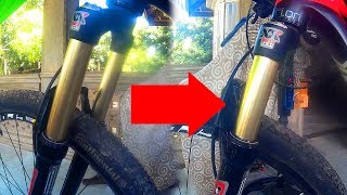 CHANGING TRAVEL FROM130-100MM MOUNTAINPEAK AIR FORK
