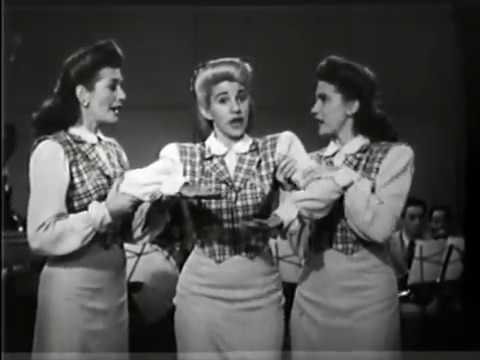 Клип The Andrews Sisters - Straighten Up and Fly Right