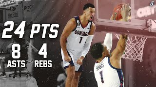 Jalen Suggs Couldn't Be Stopped In Freshman Debut Full Highlights 11.26.20 | 24 Pts, 8 Ast & 4 Rebs!