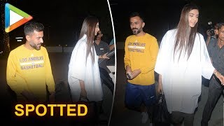SPOTTED: Sonam Kapoor with husband Anand Ahuja on a Romantic Dinner Date