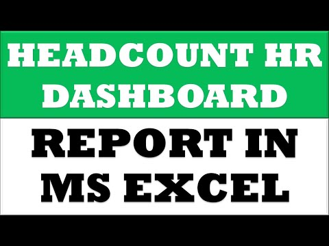 Headcount Report In Excel | Hr Dashboard | Power Pivot Dashboard