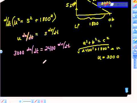 ap calculus ab related rates problem rocket vertical motion