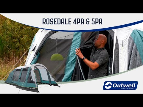 Outwell Rosedale 4PA & 5PA - Prime Air Tent Collection (2020) | Innovative Family Camping