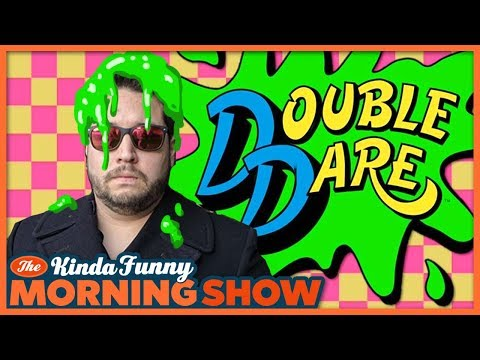 Kevin Got Slimed on Double Dare? - The Kinda Funny Morning Show 04.26.18