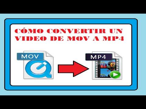CÓMO CONVERTIR UN VIDEO DE MOV A MP4 SIN PROGRAMAS NI PAGINAS WEB