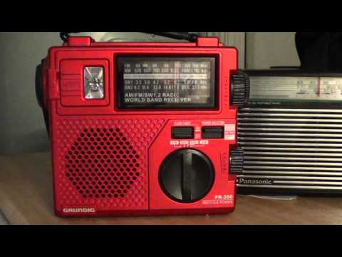 China Radio International on Grundig FR 200 hand crank shortwave radio