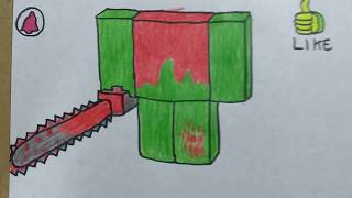 Cómo DIBUJAR y PINTAR a 😨DIPSY CHAINSAW versión ROBLOX/how to DRAW and PAINT DIPSY CHAINSAW ROBLOX