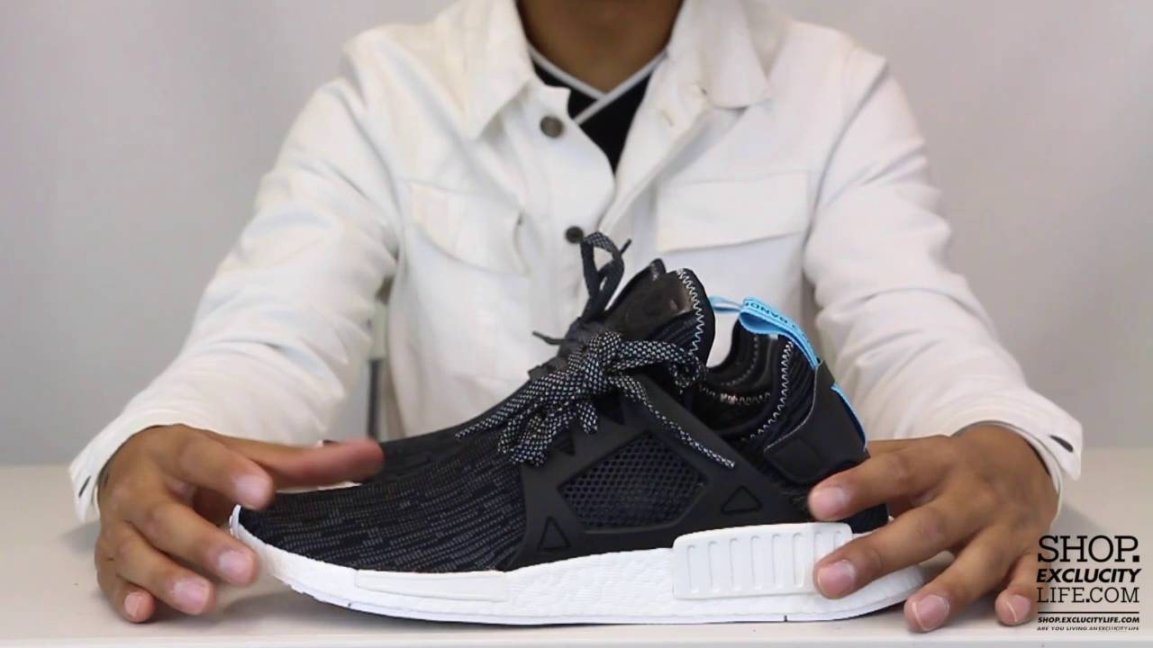 new arrivals 75f01 fb6a7 NMD XR1 PK Black Blue Unboxing Video at Exclucity