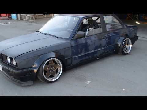 ABS Plastic Fender flares installed in Raceline tuning Service Odessa on bMW E30