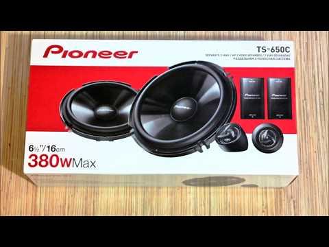 Распаковка и обзор Pioneer TS-650C. Прослушка твитера через кроссовер.