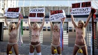 FEMEN protests against the UEFA Euro 2012 - no comment
