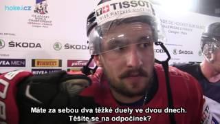 Vincent Praplan po zápase Švýcarsko - Finsko 2:3p