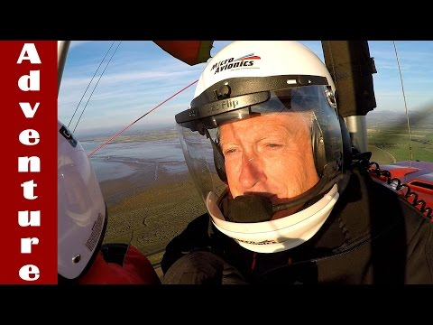Flying High. Graham Takes To The Skies. First Microlite Flight