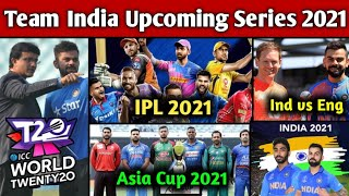 Indian Team Upcoming Series 2021 | Team India Upcoming Matches Schedule 2021 | CricTalk Hindi