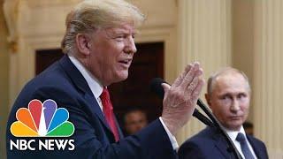 Instead Of Pressing Putin On Meddling, President Trump Calls For Clinton, DNC Servers   NBC News