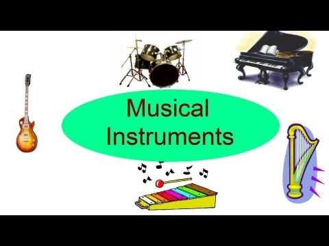 Musical Instruments for kids, Flash cards for children
