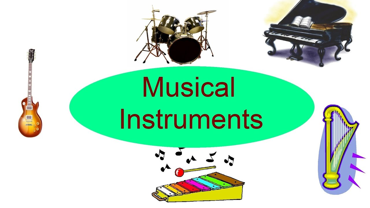 Musical Instruments for kids Flash cards for children