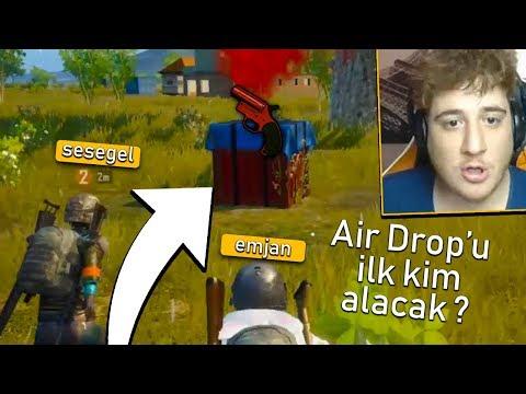 AIR DROP'U ALAN FULLENİR !! KOŞU YARIŞI :D - PUBG Mobile