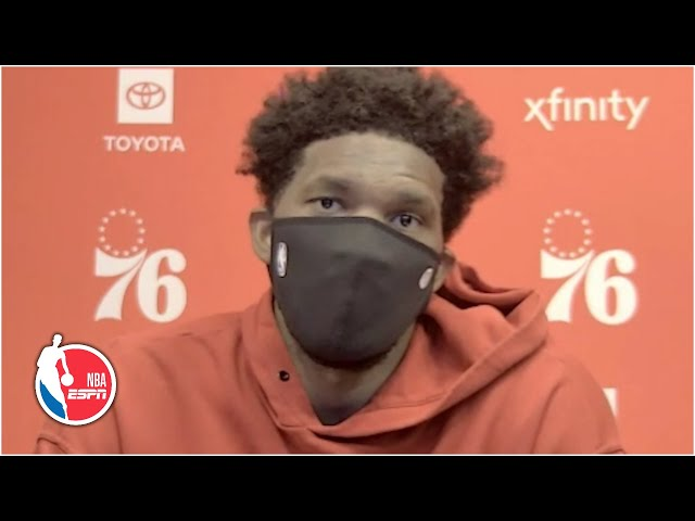 Joel Embiid calls LeBron James' flagrant foul a 'dangerous play' | NBA on ESPN