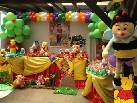 Winnie Pooh themed Party ideas by Carmen Party for Kids Elias 1st b