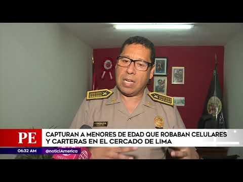 América Noticias: Detienen a adolecentes raqueteros en el Centro de Lima