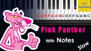 easy piano songs for beginners pink panther