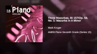 Three Mazurkas, Bi 157/Op. 59, No. 1: Mazurka in A Minor