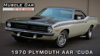 Muscle Car Of The Week Video Episode #121:  1970 Plymouth 'Cuda AAR Alpine White
