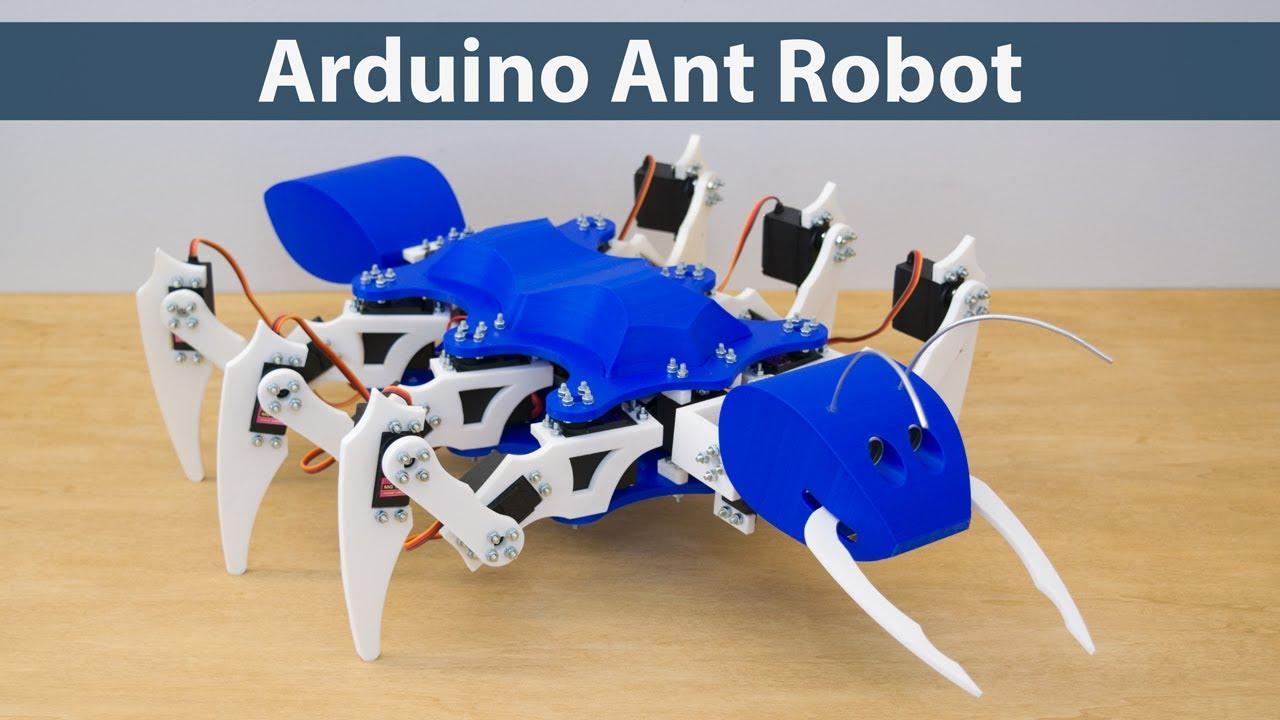 Arduino Ant Hexapod Robot - HowToMechatronics