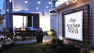 DIY Outdoor Movie Theater    EASY Backyard Makeover!