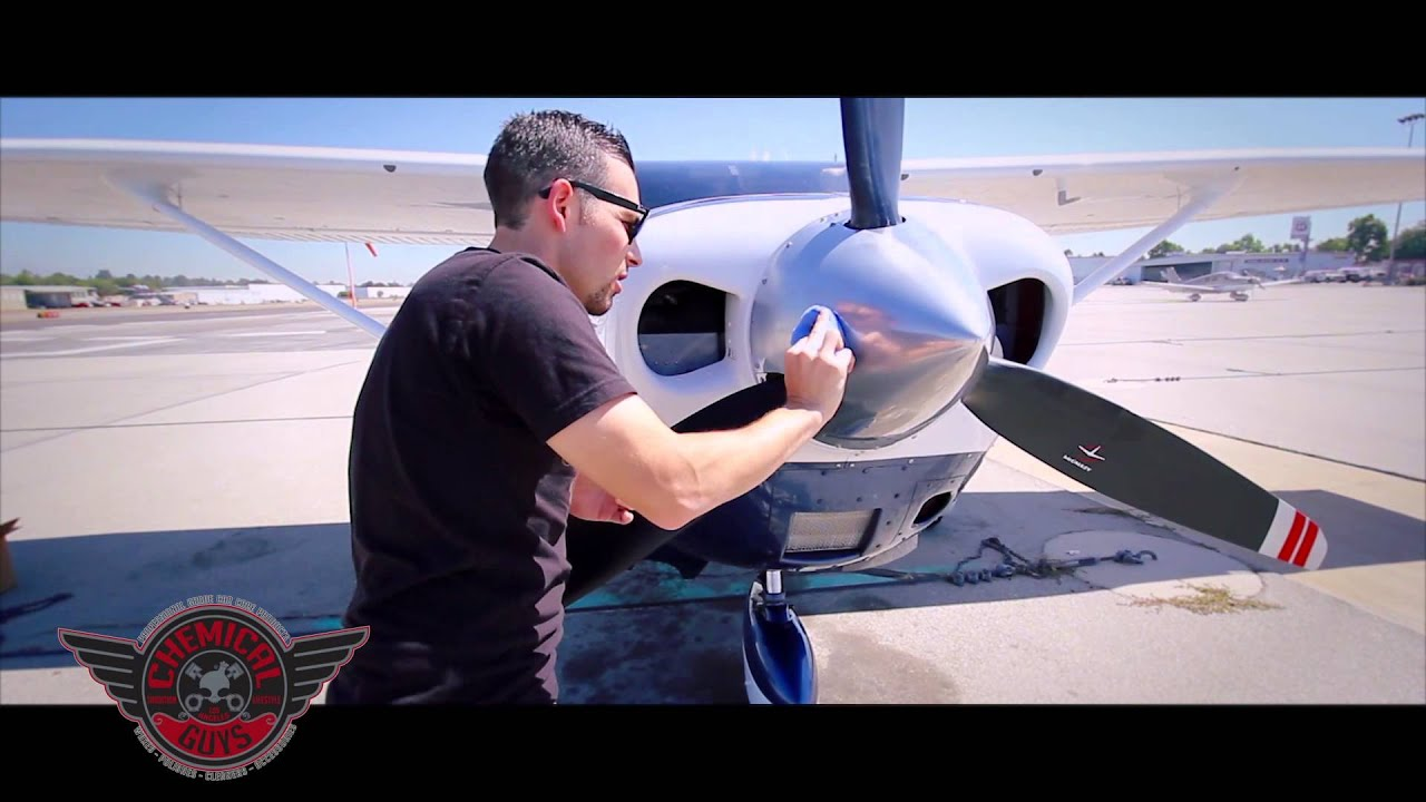 Vintage Metal Wax Chemical Guys Airplane Detailing