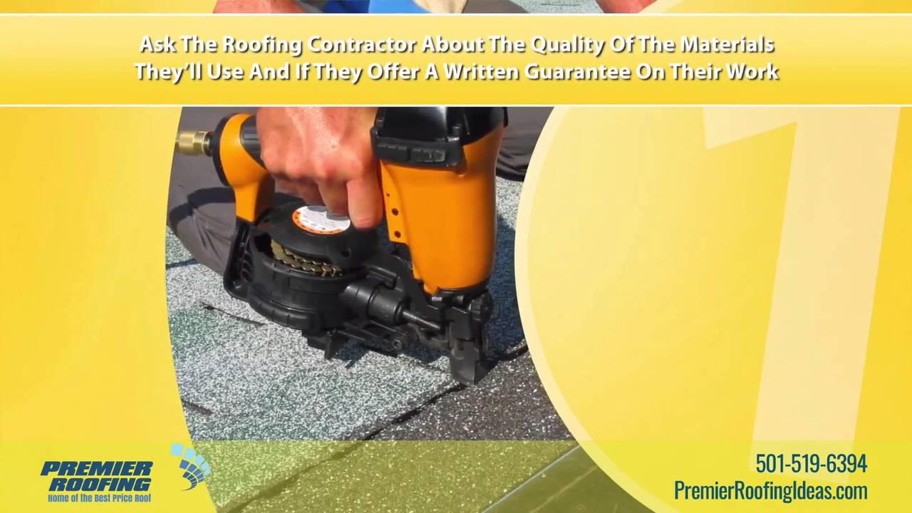 When choosing a contractor