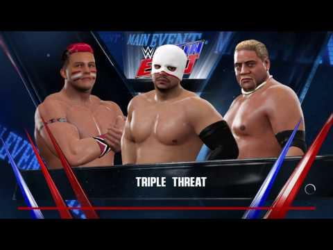 WWE 2K17 Diego VS Tataka VS Rikishi Requested Triple Threat Match