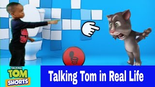 My Talking Tom Vs Prince in Real Life Bathroom Buddy