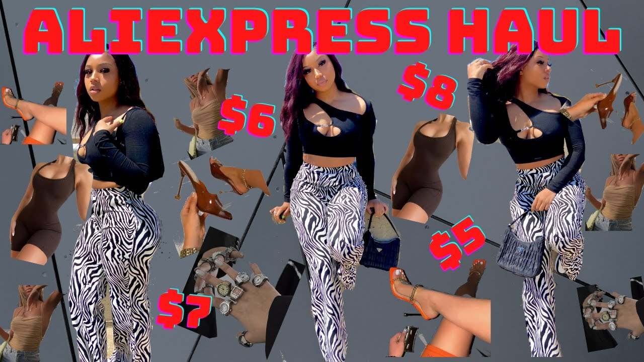 ALIEXPRESS HAUL| VERY TRENDY UNIQUE AFFORDABLE SUMMER CLOTHES 2021 *jumpsuit, jewelry, dresses, heel
