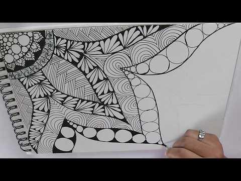 zentangle art for beginners || Doodle patterns || Zen-doodle - YouTube
