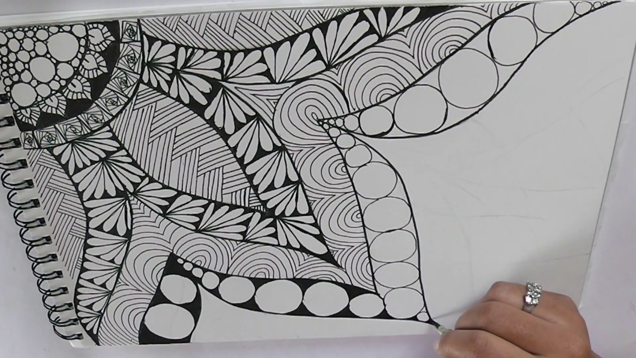 zentangle art for beginners || Doodle patterns || Zen-doodle