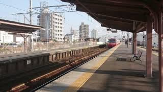 名鉄1200系1516F快特新鵜沼行き 矢作橋駅を高速通過!