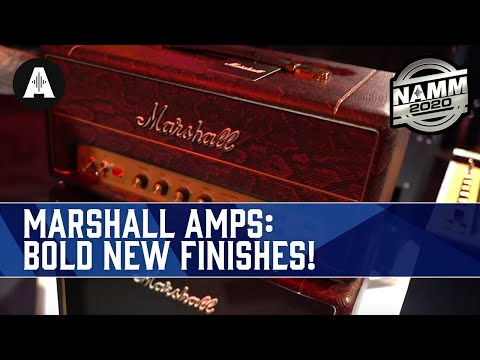 Exclusive Finishes for the Marshall Studio Range! - NAMM 2020